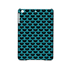 Scales3 Black Marble & Turquoise Colored Pencil (r) Ipad Mini 2 Hardshell Cases