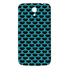 Scales3 Black Marble & Turquoise Colored Pencil (r) Samsung Galaxy Mega I9200 Hardshell Back Case