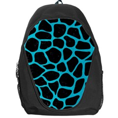Skin1 Black Marble & Turquoise Colored Pencil Backpack Bag