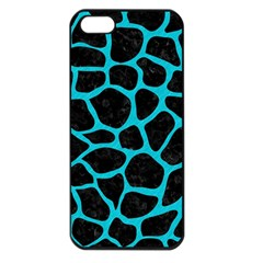 Skin1 Black Marble & Turquoise Colored Pencil Apple Iphone 5 Seamless Case (black)