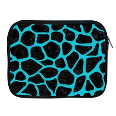 Skin1 Black Marble & Turquoise Colored Pencil Apple Ipad 2/3/4 Zipper Cases