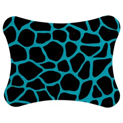 Skin1 Black Marble & Turquoise Colored Pencil Jigsaw Puzzle Photo Stand (bow)