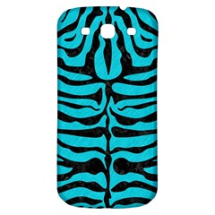 Skin2 Black Marble & Turquoise Colored Pencil Samsung Galaxy S3 S Iii Classic Hardshell Back Case