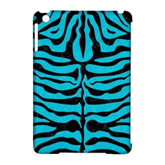 Skin2 Black Marble & Turquoise Colored Pencil Apple Ipad Mini Hardshell Case (compatible With Smart Cover)
