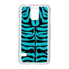 Skin2 Black Marble & Turquoise Colored Pencil Samsung Galaxy S5 Case (white)