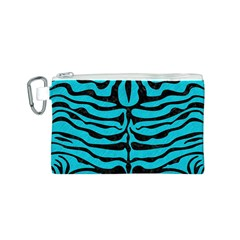 Skin2 Black Marble & Turquoise Colored Pencil Canvas Cosmetic Bag (s)