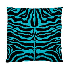 Skin2 Black Marble & Turquoise Colored Pencil (r) Standard Cushion Case (two Sides)