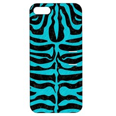 Skin2 Black Marble & Turquoise Colored Pencil (r) Apple Iphone 5 Hardshell Case With Stand