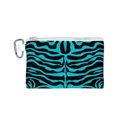 Skin2 Black Marble & Turquoise Colored Pencil (r) Canvas Cosmetic Bag (s)