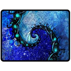 Nocturne Of Scorpio, A Fractal Spiral Painting Double Sided Fleece Blanket (large)