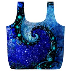 Nocturne Of Scorpio, A Fractal Spiral Painting Full Print Recycle Bags (l)