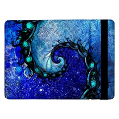 Nocturne Of Scorpio, A Fractal Spiral Painting Samsung Galaxy Tab Pro 12 2  Flip Case
