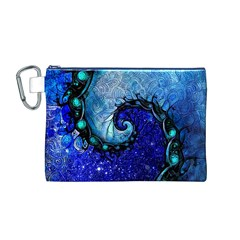 Nocturne Of Scorpio, A Fractal Spiral Painting Canvas Cosmetic Bag (m)