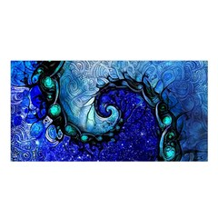 Nocturne Of Scorpio, A Fractal Spiral Painting Satin Shawl