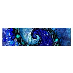 Nocturne Of Scorpio, A Fractal Spiral Painting Satin Scarf (oblong)