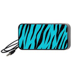 Skin3 Black Marble & Turquoise Colored Pencil Portable Speaker