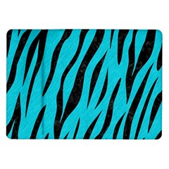Skin3 Black Marble & Turquoise Colored Pencil Samsung Galaxy Tab 10 1  P7500 Flip Case