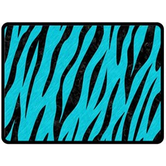Skin3 Black Marble & Turquoise Colored Pencil Double Sided Fleece Blanket (large)