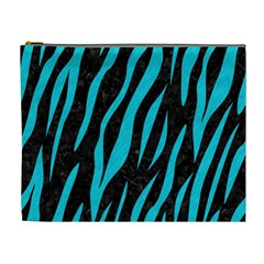 Skin3 Black Marble & Turquoise Colored Pencil (r) Cosmetic Bag (xl)
