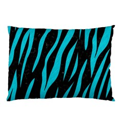 Skin3 Black Marble & Turquoise Colored Pencil (r) Pillow Case (two Sides)