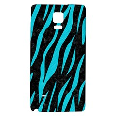 Skin3 Black Marble & Turquoise Colored Pencil (r) Galaxy Note 4 Back Case