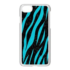 Skin3 Black Marble & Turquoise Colored Pencil (r) Apple Iphone 8 Seamless Case (white)