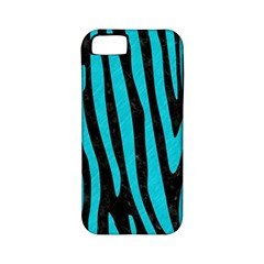 Skin4 Black Marble & Turquoise Colored Pencil Apple Iphone 5 Classic Hardshell Case (pc+silicone)
