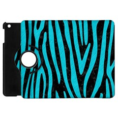 Skin4 Black Marble & Turquoise Colored Pencil Apple Ipad Mini Flip 360 Case
