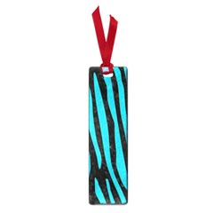 Skin4 Black Marble & Turquoise Colored Pencil Small Book Marks
