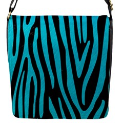 Skin4 Black Marble & Turquoise Colored Pencil Flap Messenger Bag (s)