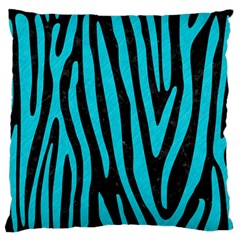 Skin4 Black Marble & Turquoise Colored Pencil Standard Flano Cushion Case (two Sides)