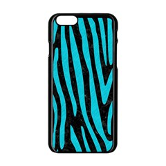 Skin4 Black Marble & Turquoise Colored Pencil Apple Iphone 6/6s Black Enamel Case