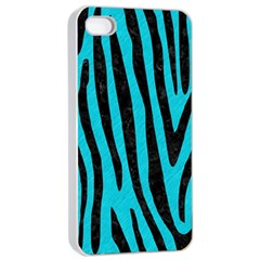 Skin4 Black Marble & Turquoise Colored Pencil (r) Apple Iphone 4/4s Seamless Case (white)