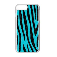 Skin4 Black Marble & Turquoise Colored Pencil (r) Apple Iphone 7 Plus Seamless Case (white)