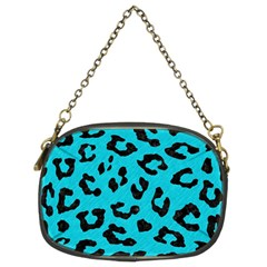 Skin5 Black Marble & Turquoise Colored Pencil (r) Chain Purses (two Sides)