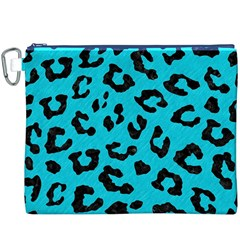 Skin5 Black Marble & Turquoise Colored Pencil (r) Canvas Cosmetic Bag (xxxl)