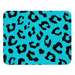 Skin5 Black Marble & Turquoise Colored Pencil (r) Double Sided Flano Blanket (large)