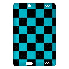 Square1 Black Marble & Turquoise Colored Pencil Amazon Kindle Fire Hd (2013) Hardshell Case