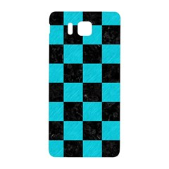 Square1 Black Marble & Turquoise Colored Pencil Samsung Galaxy Alpha Hardshell Back Case