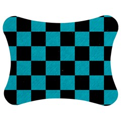 Square1 Black Marble & Turquoise Colored Pencil Jigsaw Puzzle Photo Stand (bow)