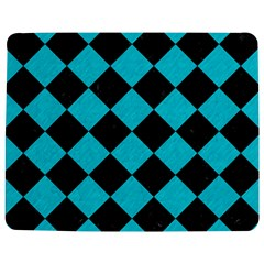 Square2 Black Marble & Turquoise Colored Pencil Jigsaw Puzzle Photo Stand (rectangular)