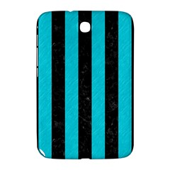Stripes1 Black Marble & Turquoise Colored Pencil Samsung Galaxy Note 8 0 N5100 Hardshell Case