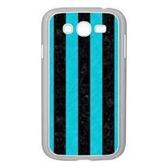Stripes1 Black Marble & Turquoise Colored Pencil Samsung Galaxy Grand Duos I9082 Case (white)