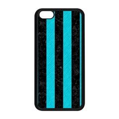 Stripes1 Black Marble & Turquoise Colored Pencil Apple Iphone 5c Seamless Case (black)