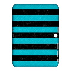 Stripes2 Black Marble & Turquoise Colored Pencil Samsung Galaxy Tab 4 (10 1 ) Hardshell Case