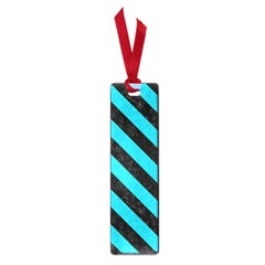 Stripes3 Black Marble & Turquoise Colored Pencil Small Book Marks