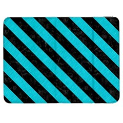 Stripes3 Black Marble & Turquoise Colored Pencil Samsung Galaxy Tab 7  P1000 Flip Case