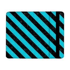Stripes3 Black Marble & Turquoise Colored Pencil Samsung Galaxy Tab Pro 8 4  Flip Case