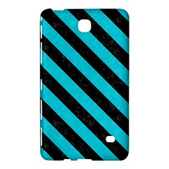 Stripes3 Black Marble & Turquoise Colored Pencil Samsung Galaxy Tab 4 (7 ) Hardshell Case
