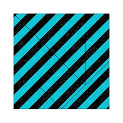 Stripes3 Black Marble & Turquoise Colored Pencil (r) Acrylic Tangram Puzzle (6  X 6 )